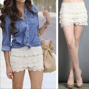 Pants - 🎉🎈🎊HOST PICK 🎊🎈🎉Crochet Lace Shorts